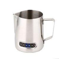 600 ml Kaffeemaschine Milchaufschäumung Krug Barista Thermometer Machen Perfekte Schaum Für Cappuccino Edelstahl Kaffee Zubehör-in Kaffee-und Espressomaschinen aus Haushaltsgeräte bei