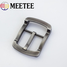 Meetee Fashion Belt Buckles for Men Head Metal Pin Buckle DIY Leathercraft Hardware Jeans Accessories