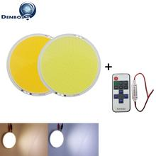 Купить с кэшбэком dimmable with remote controller small sun 108mm 12V 50W round COB high powr white warm white led cob chip for car light source