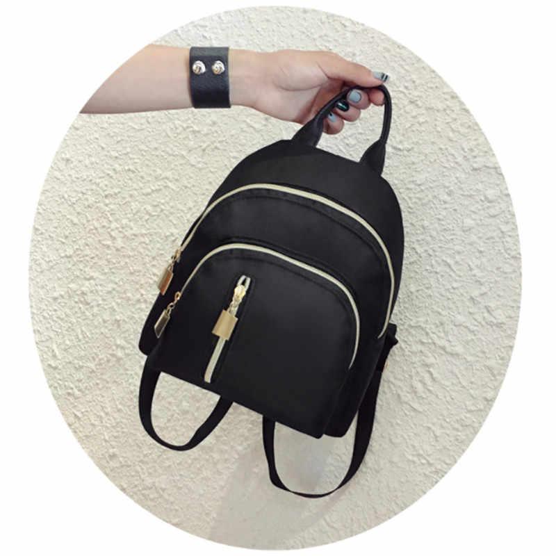 da1ea56c7b8 Женский мини-рюкзак Оксфорд женская повседневная однотонная сумка Оксфорд  водостойкая сумка переносная дорожная сумка школьный