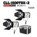 Бесплатная доставка светодиодное освещение для фотостудии 3000 K-8000 K двухцветное регулируемое Видео Освещение DMX Система 2 шт./лот с коробкой ...