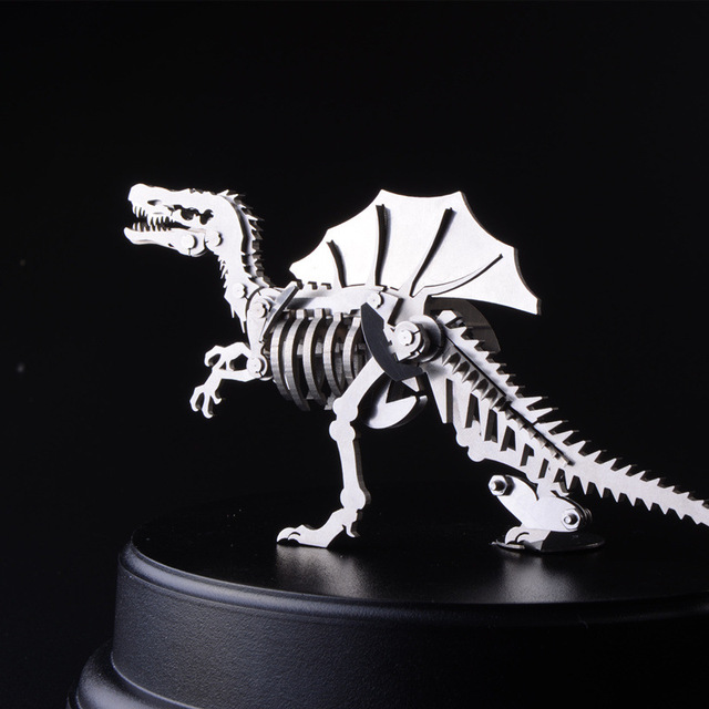 3D Assembling Metal Model Spines Dragon Puzzle Jurassic Park Dinosaur Creative DIY Toys For Kids Manual Christmas Gifts TK0138