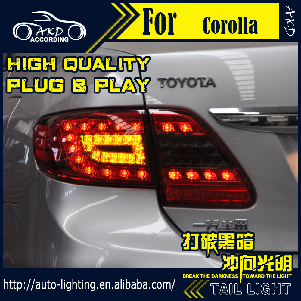 AKD Car Styling Tail Lamp for Toyota Corolla Tail Lights 2011 Altis LED Tail Light Signal LED DRL Stop Rear Lamp Accessories auto lighting style led tail lamp for toyota new corolla tail lights 2014 altis drl rear trunk lamp cover signal brake reverse