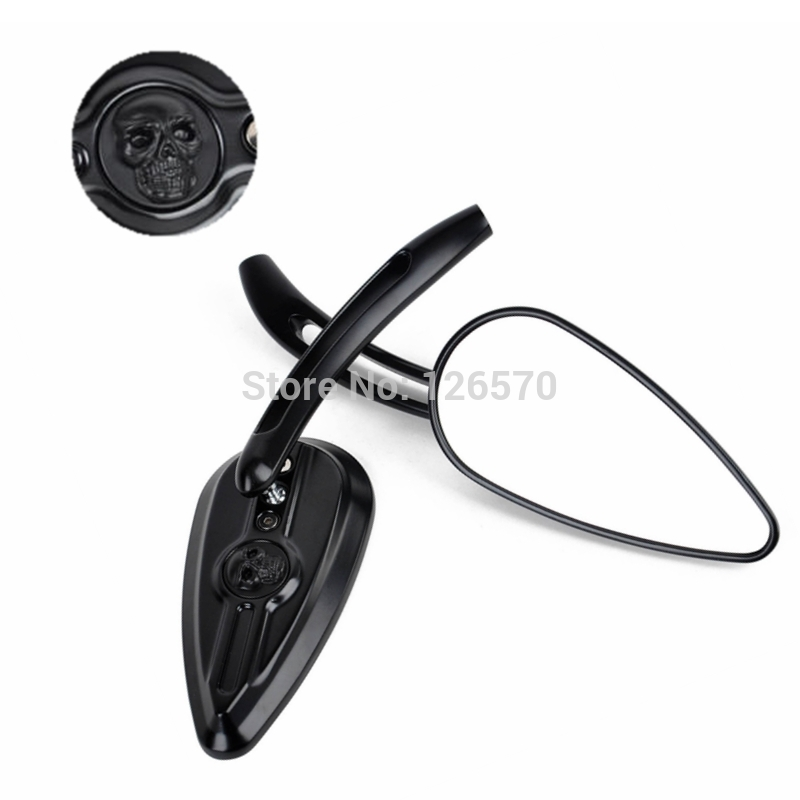 Moto Motorcycle Motorbike parts Black Rearview Mirrors for Honda Yamaha Suzuki Kawasaki Harley