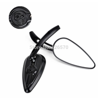 Moto Motorcycle Motorbike parts Black Rearview Mirrors for Honda Yamaha Suzuki Kawasaki Harley