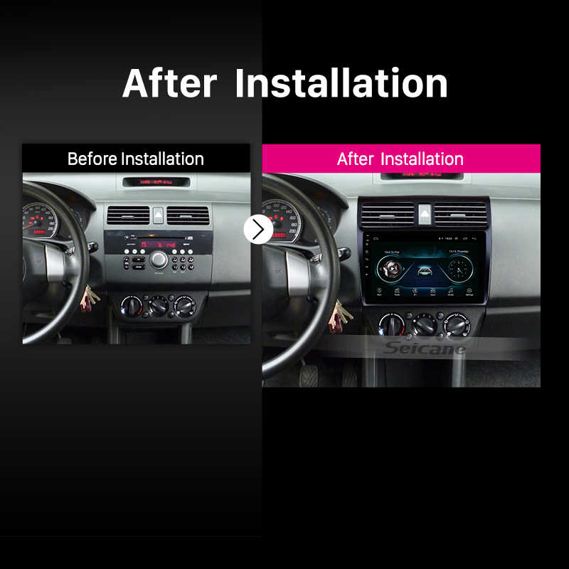 "Seicane Auto Stereo Gps Navigatie Multimedia Player Voor 2005 2006 2007 2008 2009 2010 Suzuki Swift 10.1 ""Android 9.0 hoofd Unit"