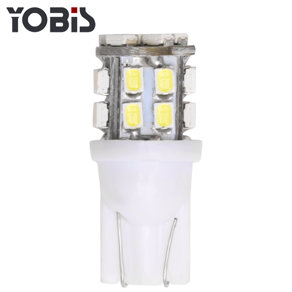 10pcs T10 <font><b>LED</b></font> Bulbs W5W <font><b>Canbus</b></font> 12V 24SMD 5000K White Car Interior Reading Light Wedge Side License Plate <font><b>5W5</b></font> <font><b>LED</b></font> Free Error 194 image