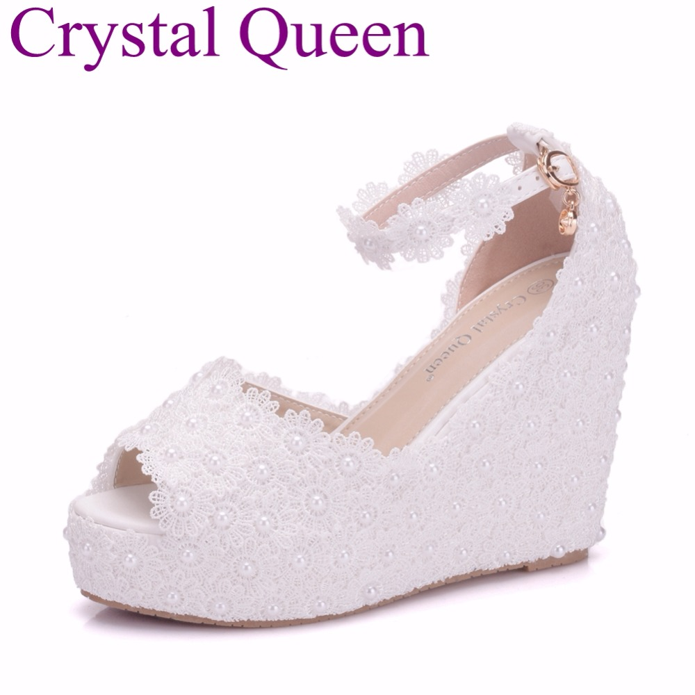 Top 9 Most Popular Wedding White Lace Wedge Shoes Brands And