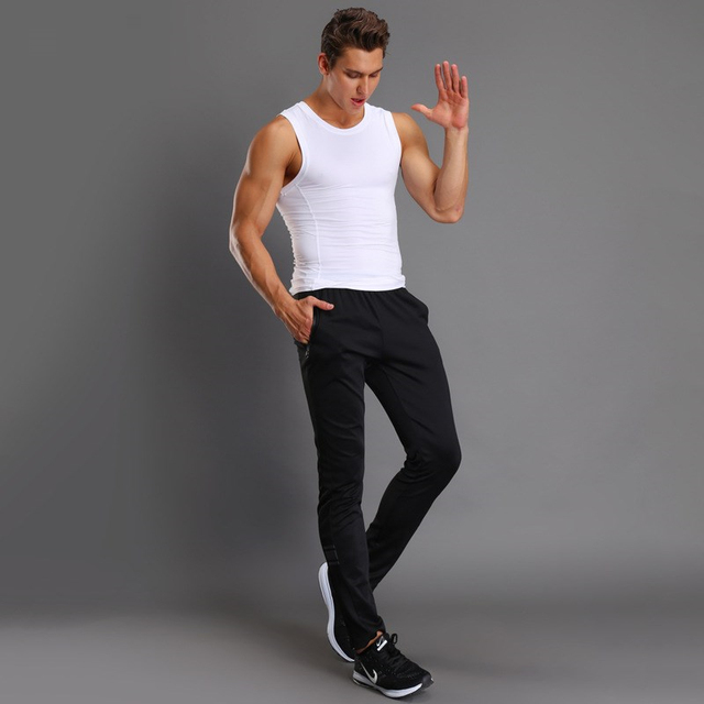 Breathable Jogging Pants Men Fitness Joggers Running Pants With Zip Pocket Training Sport Pants For Running Tennis Soccer Play 5