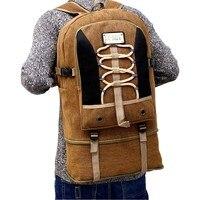 Najlepsza Oferta Duża Pojemność Składane Mężczyźni Płótnie Podróży Plecak Plecak Na Zewnątrz Torby Wspinaczki Sportowej Camping Wspinaczka Gym Bag