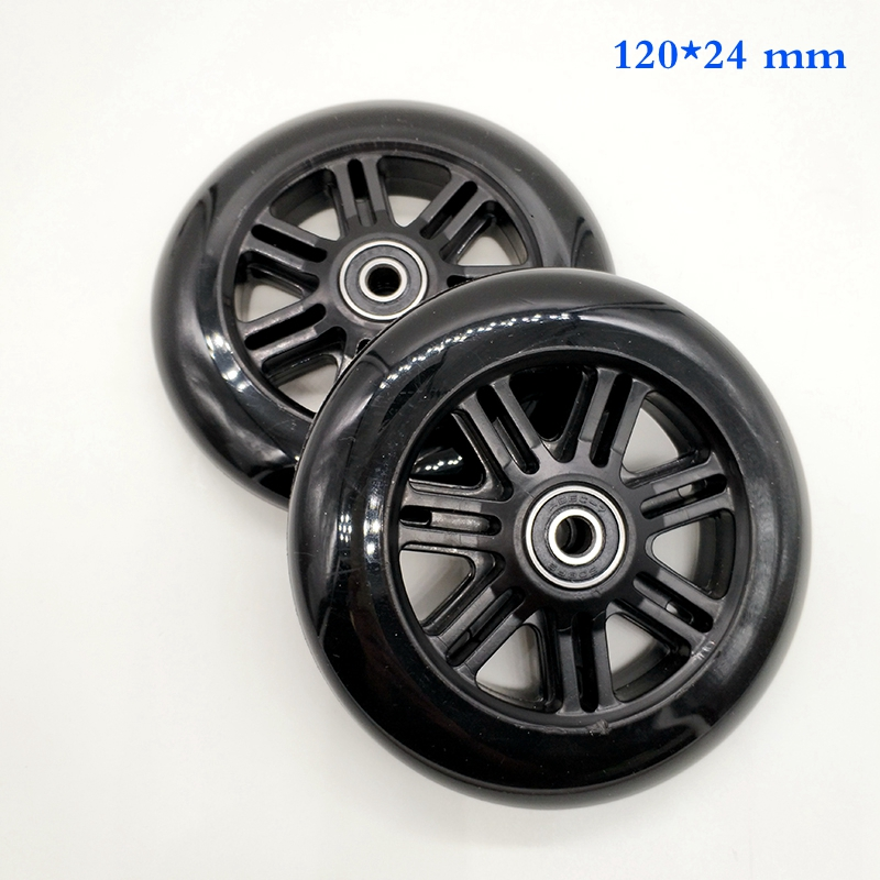 Free Shipping Scooter Wheel Diameter 120 Mm 2 Pieces / Lot Including Bearing