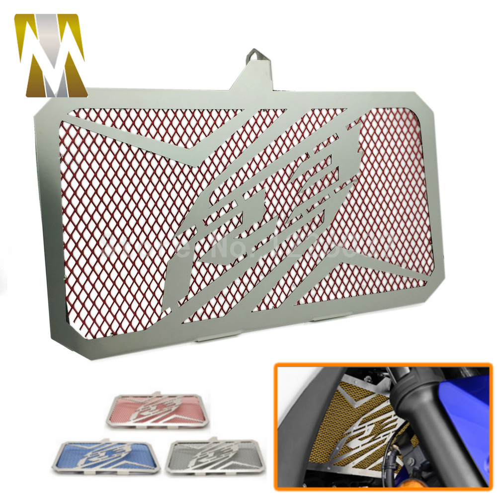 New Motorcycle Stainless Steel Radiator Grille Guard Cover Protector For Yamaha YZF R3 2015-2017/R3 ABS 2017 Universal car front bumper mesh grille around trim racing grills 2013 2016 for ford ecosport quality stainless steel