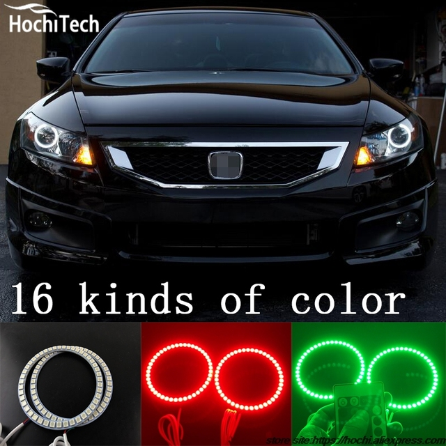 For Honda Accord Coupe Super Brightness Colorshift Rgb Angel Eyes Halo Ring Car Styling Accessories 2008 2009 2010 2017