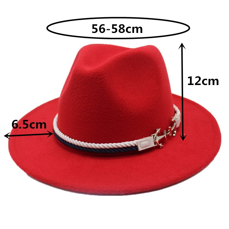 e049421b Hot Sale] Seioum Spring Wide Brim Fedora Men Women Vintage Jazz Hats ...