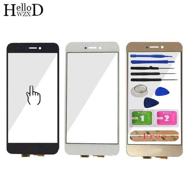 5.2 screen screen tela sensível ao toque para huawei honor 8 lite tela de toque de vidro digitador do painel touchscreen frente lente vidro sensor adesivo