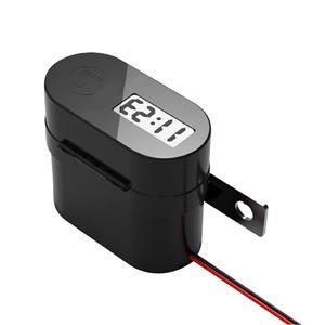 Image 3 - Toma de corriente de cargador impermeable para motocicleta, 5V, 3.1A, salida de USB doble, interruptor, pantalla LED Digital, voltímetro, encendedor de cigarrillos
