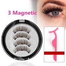 Cils magnétiques avec 3 aimants faits à la main 3D/6D cils magnétiques naturels faux cils aimant cils avec box-24P-3-cadeau