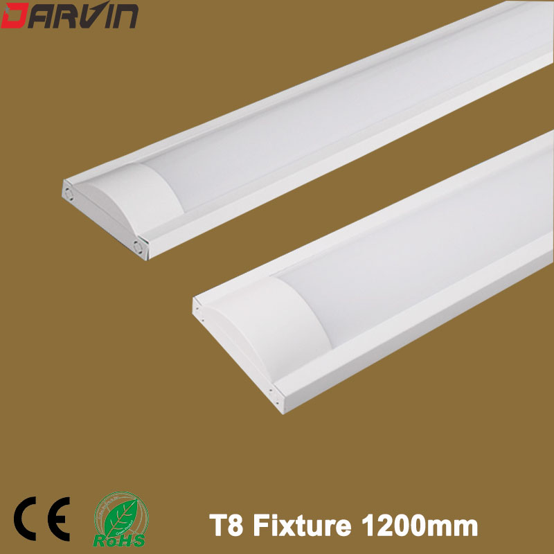Led Linear fixture T8 led tube Support Bracket Dustproof With Cover Fixture 4ft 1200mm , Free Shipping цена