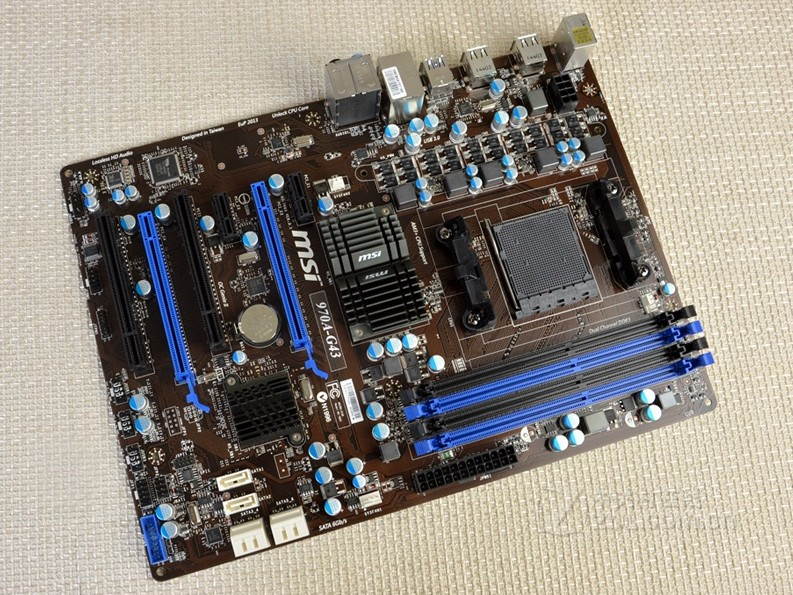 Free shipping original motherboard for MSI 970A-G43 DDR3 Socket AM3/AM3+ boards USB2.0 USB3.0 32GB 970 Desktop motherboard