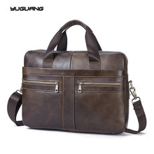 Leather Bag Business Handbags Cowhide Men Crossbody Bags Men's Travel Bags Tote Laptop Briefcases Men's Bag