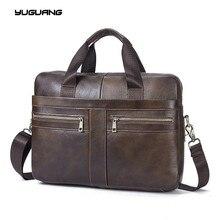 Leather Bag Business Handbags Cowhide Men Crossbody Bags Men s Travel Bags Tote Laptop Briefcases Men