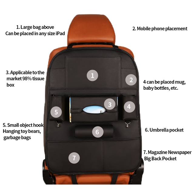 Baby/Kids Leather Car Organizer