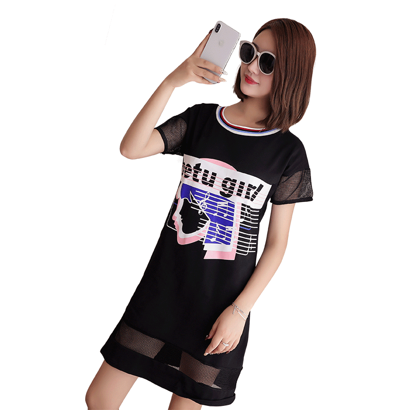 New Spring Women Shirts Short Sleeve Loose Patchwork Hollow Out Slim Long In Blouse Shirt White Black 8164