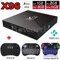 X96 2 ГБ RAM 16 ГБ S905X Amlogic Quad Core Android 6.0 Smart TV Box WI-FI HDMI 4 К Коди Fully Loaded PK M8s Set Top Box + i8 с подсветкой