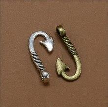 10pcs 14*31mm Antique Silver/Bronze End Clasps Hooks Bracelet Necklace Connectors for DIY Jewelry Making Accessories Parts Z474