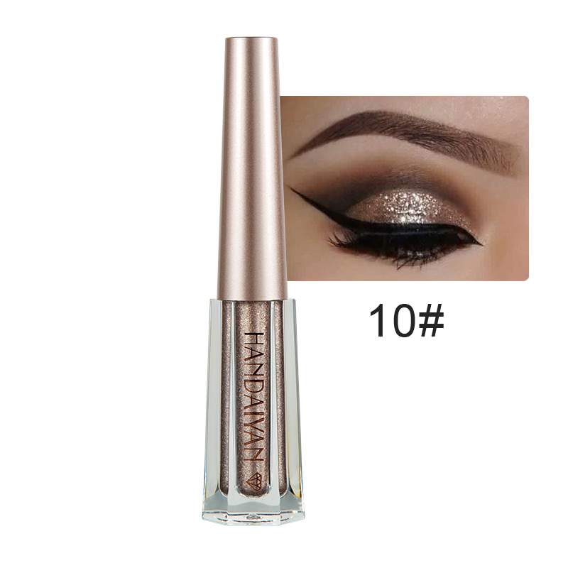 Eye Shadow Handaiyan 12 Colors Diamond Glitter Eye Shadow Cream Waterproof Long Lasting Gold Silver Metallic Liquid Eyeshadow Cosmetics
