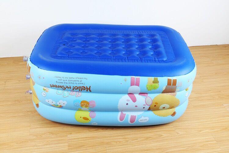 130*92 cm Bande Dessinée pop enfant piscine bébé piscine À Manger Poussette Infantile Portable Jouer Jeu Tapis Canapés apprennent Tabouret - 6