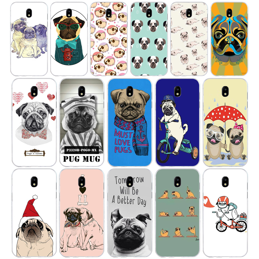 220A Cute Funny Pug Dog French Bulldog Puppy Silicon Soft Silicone Tpu Cover <font><b>phone</b></font> <font><b>Case</b></font> for <font><b>Samsung</b></font> <font><b>galaxy</b></font> j3 <font><b>j5</b></font> j7 <font><b>2016</b></font> 2017 image