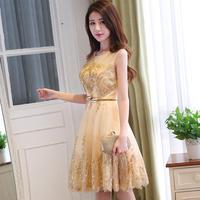 o neck dresses women dresses party dresses organza and silk fabric slim dinner clothing korean style embroidered summer dresses