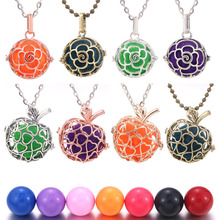 2019 New Silver Gold Mexico Chime Music Ball Locket Necklace Pregnancy Necklace for Aromatherapy Essential Oil Pregnant Women mexico chime music bell angel ball caller locket necklace flower pregnancy necklace perfume aromatherapy essential oil necklace
