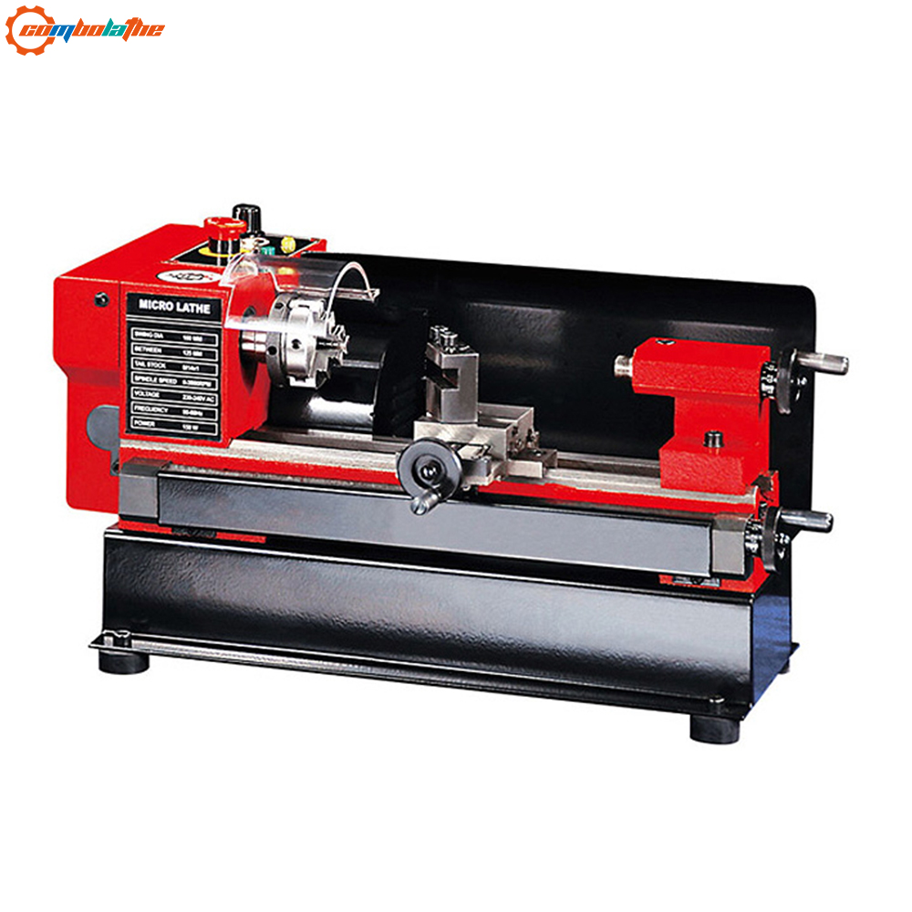 C0 mini lathe DIY household turning machine micro metal torno motor 150W baby lathe for school training and hobby