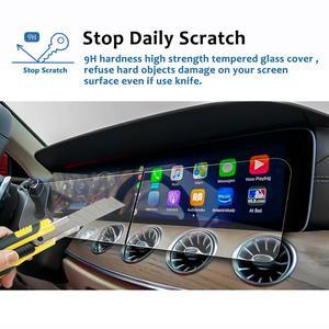 Image 3 - Ruiya 2 pçs protetor de tela para 2019 g class w464 12.3 Polegada tela de navegação do carro auto interior adesivos acessórios