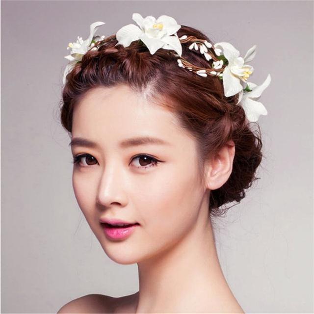 New Colorful Ribbon Rose Flower Hairband Baby Hair Band Children Accessories Girls Wedding Scrunchy