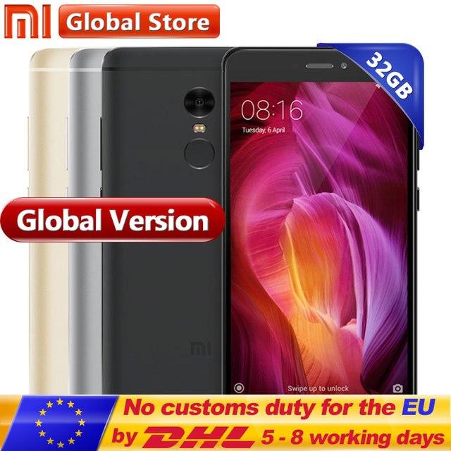 """Глобальная версия Xiaomi Redmi Note 4 Note4 3 ГБ 32 ГБ мобильный телефон Snapdragon S625 Octa Core 5.5 """"FHD 1920*1080 13.0MP 4100 мАч"""
