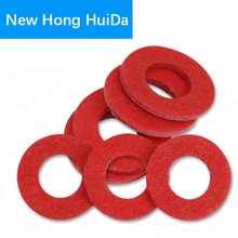 Flat Pad Insulation Washers Red Paper Meson Gasket Ring Insulating Spacers M2 M2.5 M3 M4 M5 M6 M8