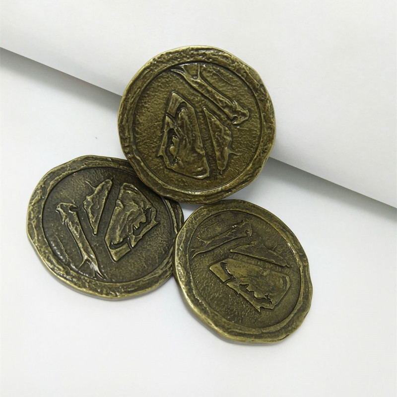 HBO Song of Ice And Fire Game of Thrones Valar Morghulis Valar Dohaeris Ancient Collectible Coin Vintage Badge Cosplay Accessory image