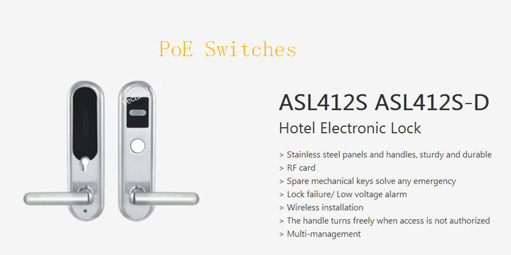 DAHUA Security Smart Lock Intelligent Building Stainless Steel Wireless RF Card Hotel Electronic Lock Without Logo ASL412S-D