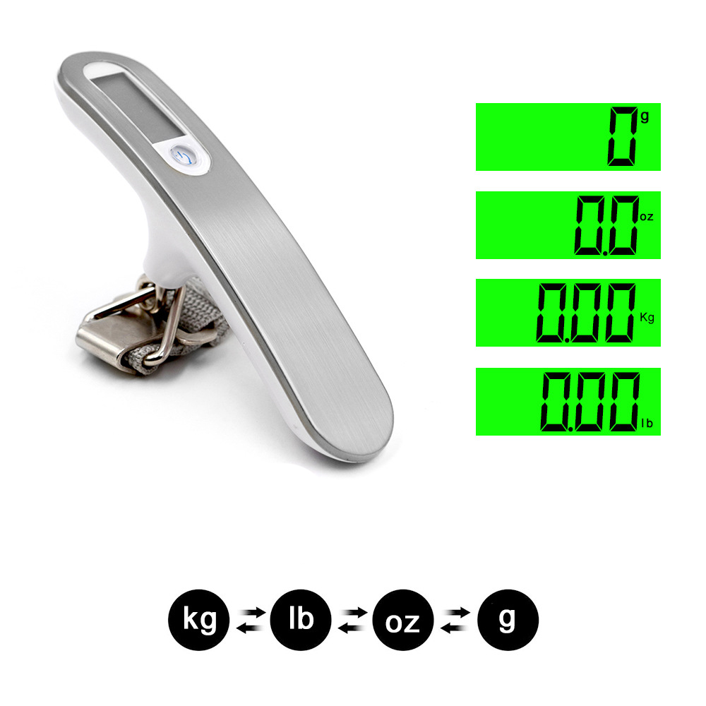 Image 2 - 50kg x 10g Digital Luggage Scale Portable Electronic Scale Weight Balance suitcase Travel Hanging Steelyard Hook scale-in Weighing Scales from Tools