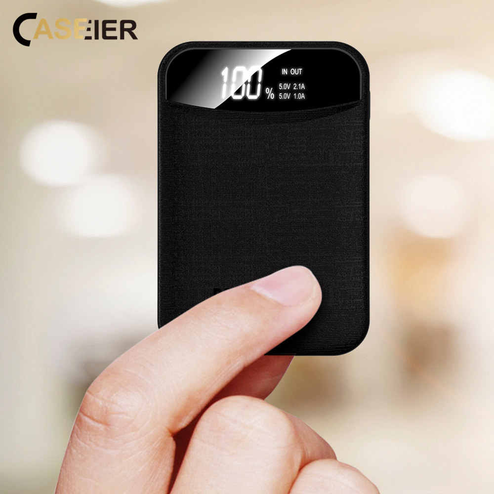 CASEIER 10000mAh Power bank Portable Charging LED Display Powerbank External Battery For iPhone Samsung Xiaomi Huawei Phone