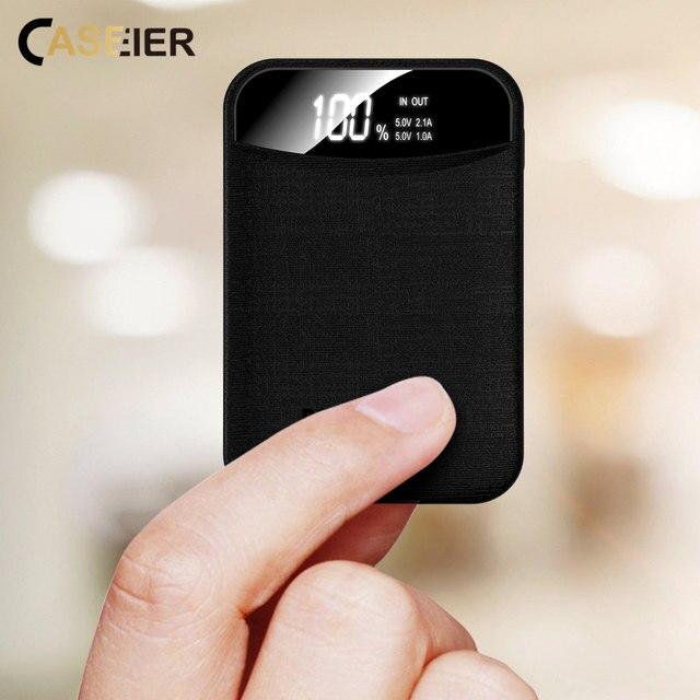 Caseier 10000 MAh Power Bank Di Động Sạc Màn Hình Hiển Thị LED Powerbank Pin Bên Ngoài Cho iPhone Samsung Xiaomi Huawei Điện Thoại