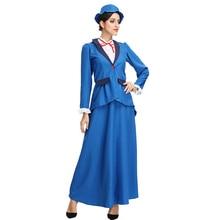 Movie character magic nanny British deep collar swallowtail mini dress Professional play teacher uniform holiday