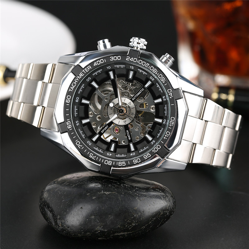 2017 Hot Sale Luxury Luminous Automatic Mechanical Skeleton Dial Stainless Steel Band Wrist Watch Men Women Christmas Gift 2017 hot sale luxury luminous automatic mechanical skeleton dial stainless steel band wrist watch men women best christmas gift