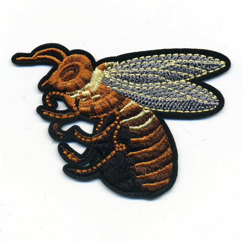 The high quality big bee Φ patches iron on ⑤