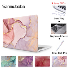 Sanmubaba Marble Texture Case For Macbook Air Pro Retina 11 12 13 15 With Touch Bar Laptop Sleeve for mac book 13.3 inch Cover