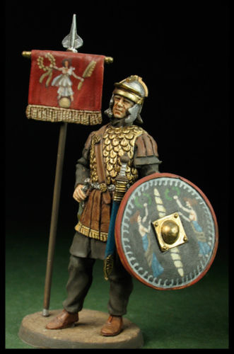 1/32 54mm Roman Warrior With Base And Shield 54mm   Toy Resin Model Miniature Resin Figure Unassembly Unpainted