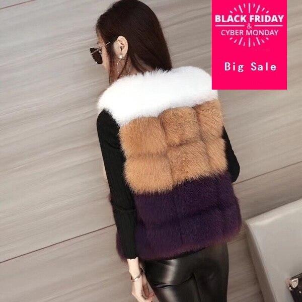 Hit Color Very Good Quality Fake Fur Vest Coat Winter Women Luxury Faux Fur Vest Furry Slim Woman Fake Fur Vest Wj1548